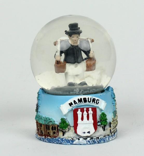 Schneekugel mit Hummel Figur 6x4,5 cm Schüttelkugel Glitzerkugel klein