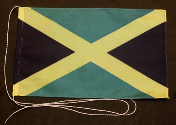 Tischflagge Jamaika 25x15 cm optional mit Holz- oder Chromständer Tischfahne Tischfähnchen