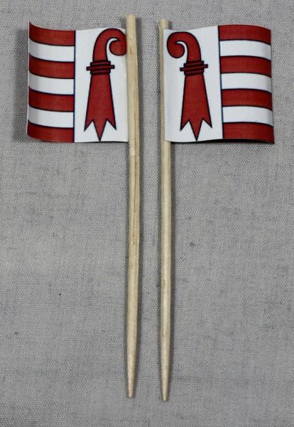 Party-Picker Flagge Jura Kanton Schweiz Papierfähnchen in Spitzenqualität 50 Stück Beutel
