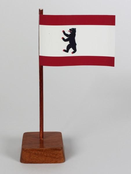 Mini Tischflagge Berlin Höhe 13 cm Tischfähnchen