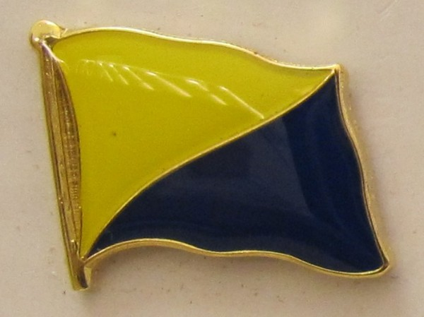 Pin Anstecker Flagge Fahne Gran Canaria Spanien Flaggenpin Button Badge Flaggen Clip Anstecknadel