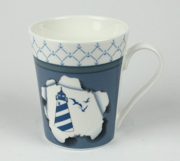 Maritimer Becher Leuchtturm Tasse/Kaffeebecher in Geschenkbox Kaffee Becher Andenken