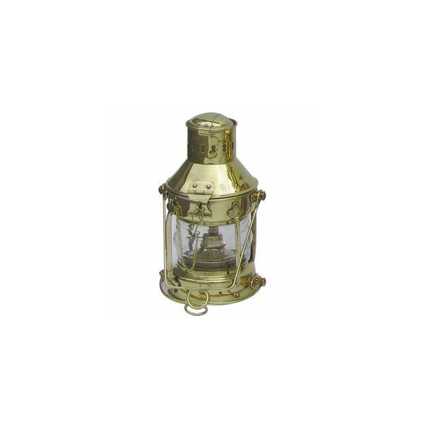 Ankerlampe Schiffslampe 24cm Messing Petroleumbrenner