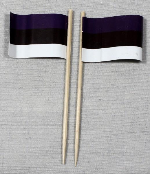 Party-Picker Flagge Estland Papierfähnchen in Spitzenqualität 50 Stück Beutel