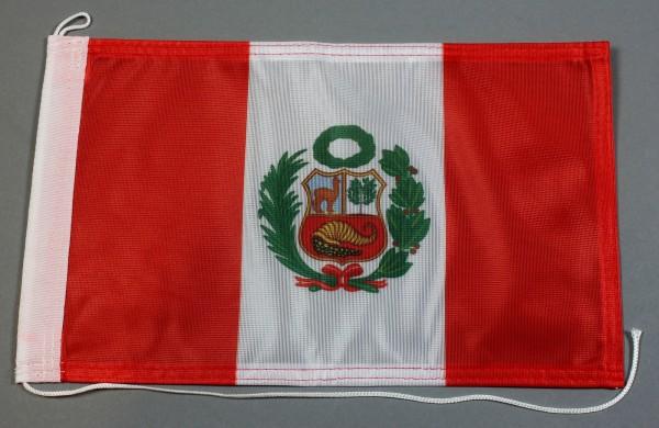Bootsflagge : Peru 30x20 cm Motorradflagge