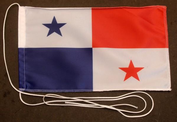 Tischflagge Panama 25x15 cm optional mit Holz- oder Chromständer Tischfahne Tischfähnchen