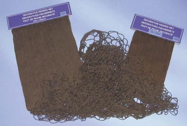 Fischernetz Deko braun eingefärbt 100x200cm