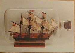 Buddelschiff - Postkarte bb06
