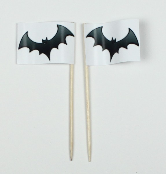 Party-Picker Flagge Fledermaus Halloween Papierfähnchen in Spitzenqualität 50 Stück Beutel
