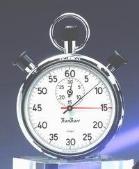 Mechanische analog Anker Doppelstopper Stoppuhr Hanhart 1/5 sec 30 min