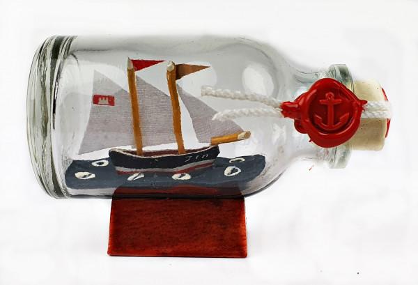 2-Mastschoner Jim Mini Buddelschiff 20 ml 5,3x3 cm Flaschenschiff