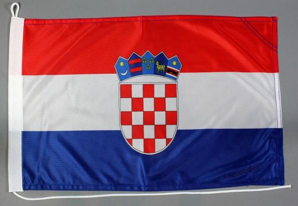 Bootsflagge Kroatien 30x45 cm Motorradflagge Bootsfahne