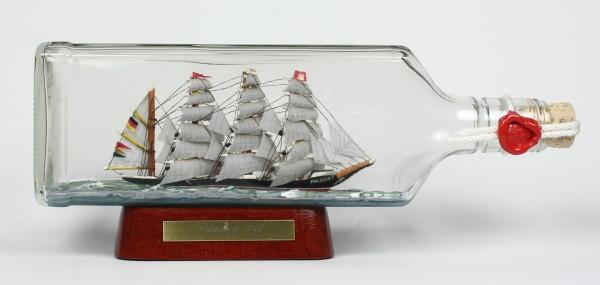 Passat eckige Ginflasche 0,7 Liter Buddelschiff Flaschenschiff