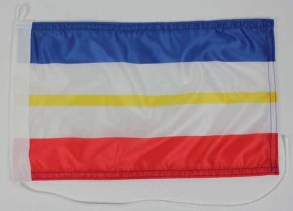 Bootsflagge : Mecklenburg Vorpommern OHNE Wappen 30x20 cm Motorradflagge