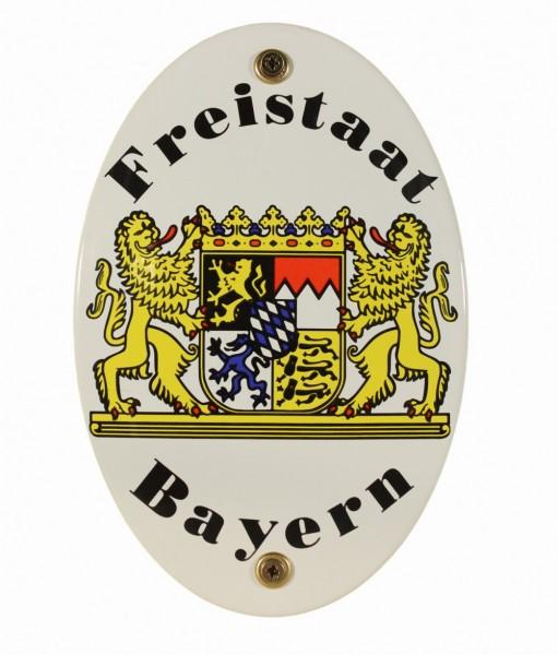 Emaille Wappenschild Bayern Emailleschild
