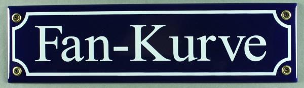 Strassenschild Fan Kurve 30x8 cm Email Strassen Schild Emaille