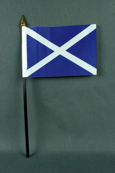 Kleine Tischflagge Schottland 10x15 cm optional mit Tischfähnchenständer