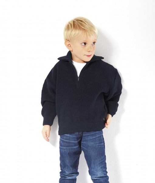 Kinder Troyer 50% Merinowolle - 50% Polyacryl Farbe blau oder rot Größe 92-176