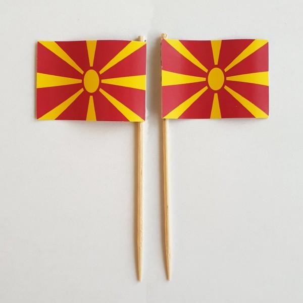 Party-Picker Flagge Mazedonien Papierfähnchen in Spitzenqualität 50 Stück Beutel