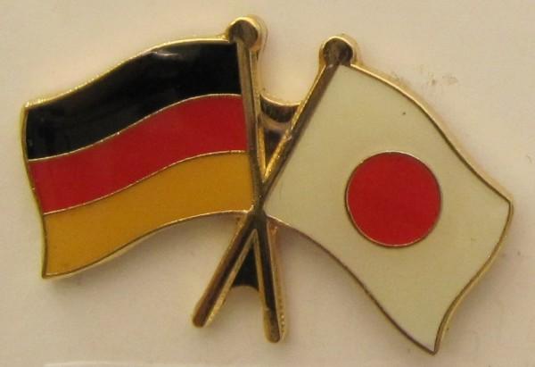 Japan / Deutschland Freundschafts Pin Anstecker Flagge Fahne Nationalflagge