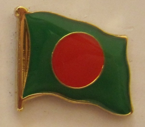 Bangladesh Pin Anstecker Flagge Fahne Nationalflagge