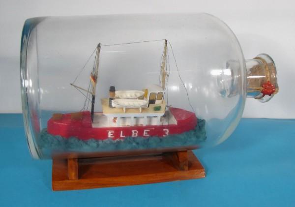 Buddelschiff Feuerschiff ELBE 3 in 5 Liter Flasche