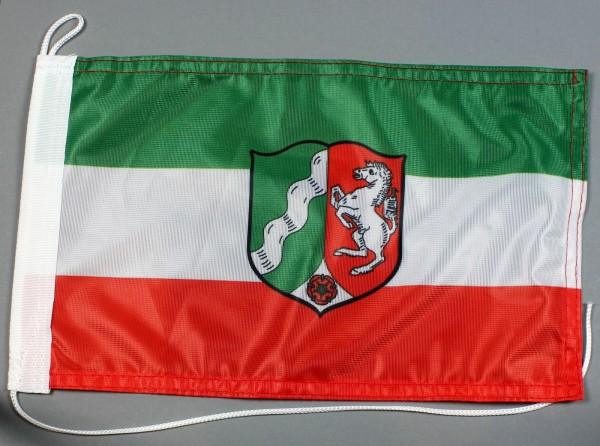 Bootsflagge : Nordrhein Westfalen 30x20 cm Motorradflagge