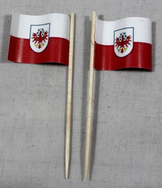 Party-Picker Flagge Tirol Österreich Papierfähnchen in Spitzenqualität 50 Stück Beutel