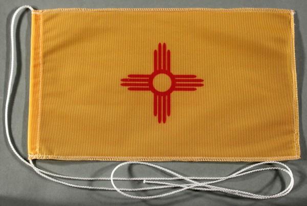 Tischflagge New Mexico USA Bundesstaat US State 25x15 cm optional mit Holz- oder Chromständer Tischf