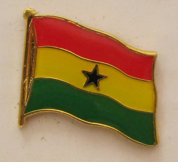 Ghana Pin Anstecker Flagge Fahne Nationalflagge