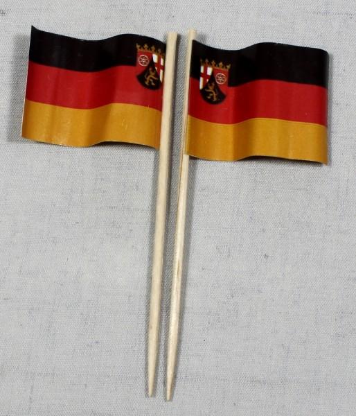 Party-Picker Flagge Rheinland Pfalz Papierfähnchen in Spitzenqualität 50 Stück Beutel