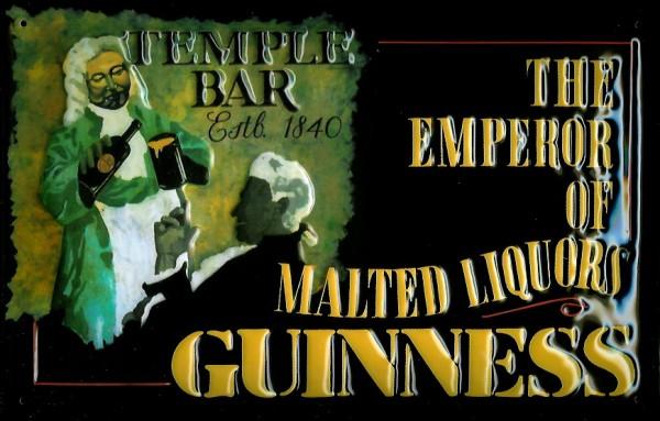Blechschild Guinness Liquor Temple Bar Schild retro Kneipenschild
