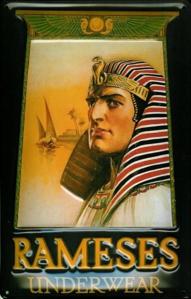 Blechschild Nostalgieschild Rameses Underwear Unterwäsche Pharao