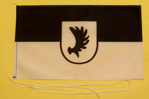 Tischflagge Ostpreussen Elchschaufel Elch Geweih 25x15 cm optional mit Holz- oder Chromständer Tisch
