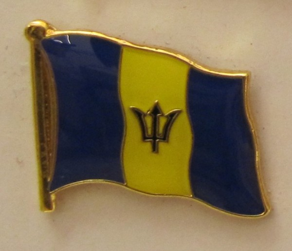Barbados Pin Anstecker Flagge Fahne Nationalflagge