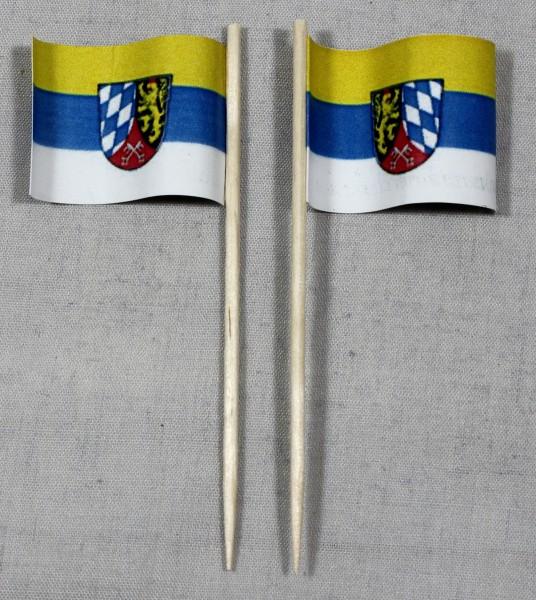 Party-Picker Flagge Oberpfalz Papierfähnchen in Spitzenqualität 50 Stück Beutel