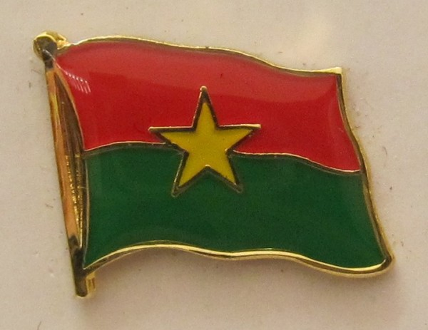 Burkina Faso Pin Anstecker Flagge Fahne Nationalflagge