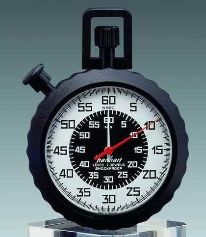 Mechanische Anker Stoppuhr Hanhart MEGAMINUTE ABS 1/5 sec 60 min