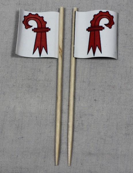 Party-Picker Flagge Basel Land Kanton Schweiz Papierfähnchen in Spitzenqualität 50 Stück Beutel