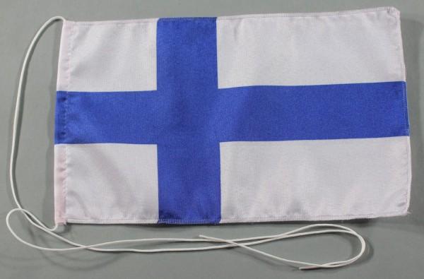 Tischflagge Finnland 25x15 cm optional mit Holz- oder Chromständer Tischfahne Tischfähnchen