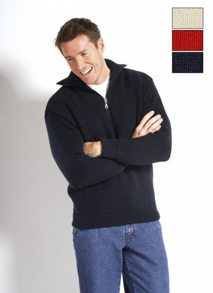 Troyer 100% Schurwolle alle Größen dunkelblau, wollweiß oder rot