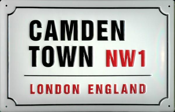 Blechschild Camden Town London Strassenschild Blech Schild Souvenir Andenken