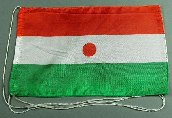 Tischflagge Niger 25x15 cm optional mit Holz- oder Chromständer Tischfahne Tischfähnchen
