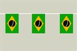 Brasilien Flaggenkette 6 Meter / 8 Flagge Fahne