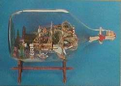 Buddelschiff - Postkarte bb07