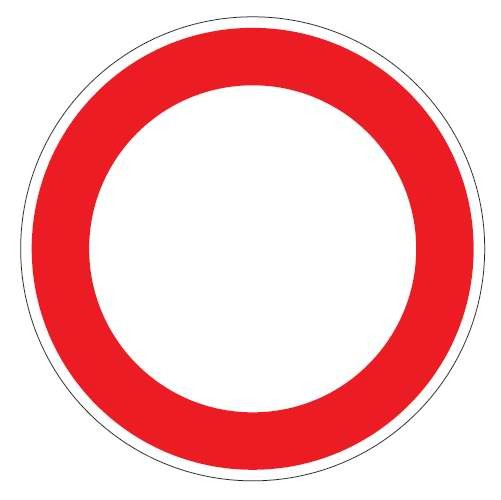 Verkehrsschild / Verkehrszeichen Verbot aller Art 600 mm rund Aluminium reflektierend Typ 1 VZ 250
