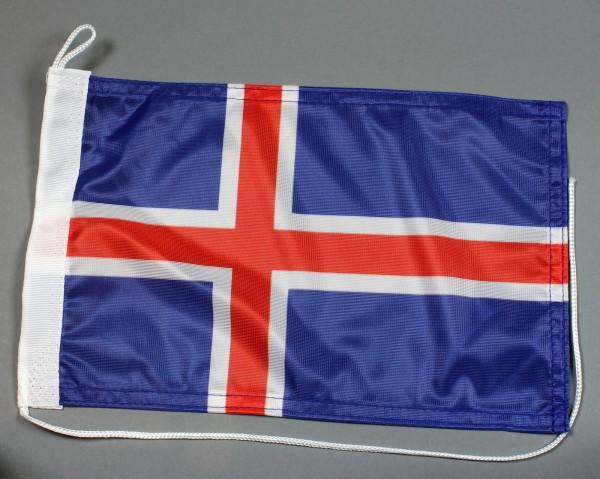 Bootsflagge : Island 30x20 cm Motorradflagge