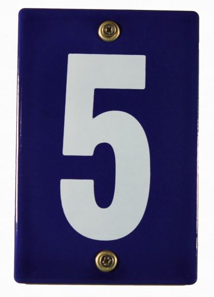 Hausnummernschild 5 Emaille Hausnummer Schild 12x8 cm Haus Nummer Zahl Ziffer Metallschild