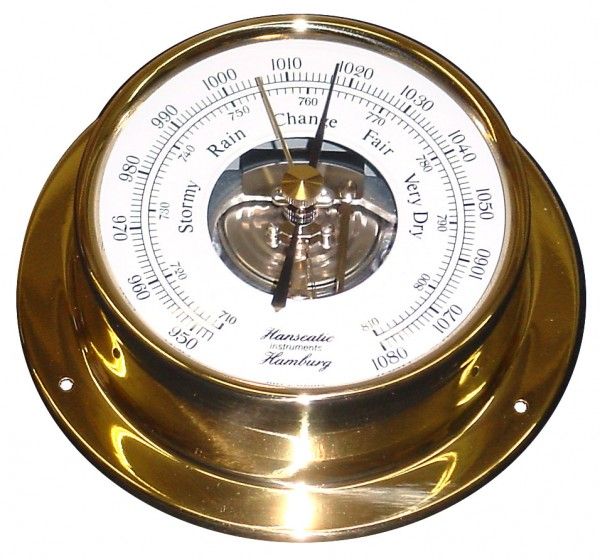 Schiffs Barometer 110 mm Messing Economy