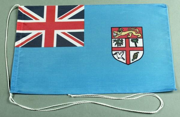 Tischflagge Fidschi Inseln 25x15 cm optional mit Holz- oder Chromständer Tischfahne Tischfähnchen